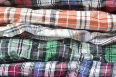 Tessuto del plaid con differenti colori Fotografia Stock Libera da Diritti