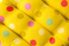 Tessuto del puntino di Polka. Fotografia Stock