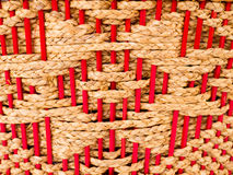 Tessuto del Silva del giacinto e con legno rosso Immagine Stock Libera da Diritti