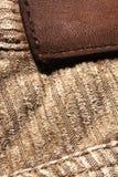 Tessuto del velluto di cotone Fotografie Stock Libere da Diritti