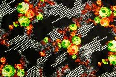Tessuto della stampa del fiore immagini stock