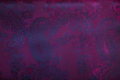 Tessuto della tappezzeria con il modello floreale di Paisley Fotografie Stock Libere da Diritti