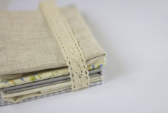 Tessuto della tela & del cotone Fotografia Stock