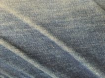 Tessuto destinato dei jeans Fotografie Stock
