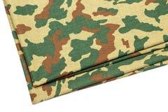 Tessuto di amouflage del ¡ di Ð su un fondo bianco Fotografie Stock