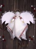 Tessuto di angelo di Natale Fotografia Stock