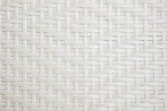 Tessuto di cestino bianco Fotografia Stock Libera da Diritti
