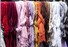 Tessuto di colore Fotografia Stock