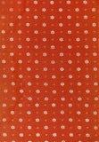 Tessuto di colore rosso dell'annata Fotografia Stock