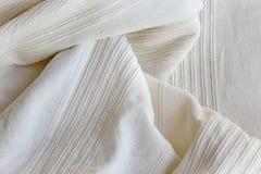 Tessuto di cotone bianco Fotografia Stock