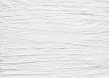 Tessuto di cotone bianco con effetto piegato immagini stock