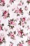 Tessuto di cotone con il reticolo floreale Fotografie Stock Libere da Diritti