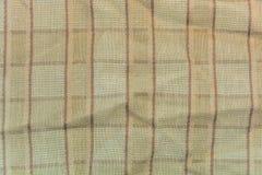 Tessuto di cotone del plaid di Brown per i precedenti Fotografie Stock
