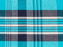 Tessuto di cotone del plaid di tartan Fotografia Stock