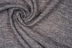 Tessuto di cotone grigio Immagini Stock Libere da Diritti