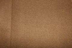 Tessuto di cotone marrone chiaro semplice Fotografia Stock