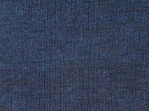 Tessuto di cotone tricottato blu scuro immagini stock libere da diritti