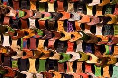 Tessuto di cuoio multicolore Fotografia Stock Libera da Diritti