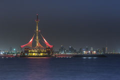 Tessuto di Marinda resturant nel Kuwait Immagine Stock