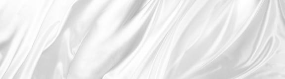 Tessuto di seta bianco fotografia stock
