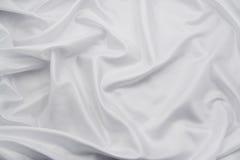 Tessuto di seta bianco 3/del raso Immagine Stock