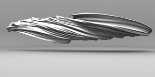 Tessuto di seta bianco volante con i popolare Immagine Stock