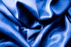 Tessuto di seta blu Fotografia Stock Libera da Diritti