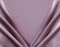 Tessuto di seta coperto lillà Fotografia Stock