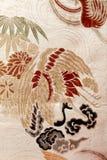 Tessuto di seta, Giappone, cinghia per il kimono Fotografia Stock