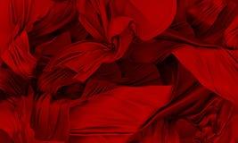 Tessuto di seta rosso Immagine Stock