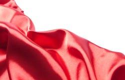 Tessuto di seta rosso astratto Fotografie Stock Libere da Diritti