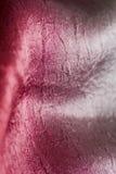 Tessuto di seta rosso e d'argento sensuale Immagini Stock Libere da Diritti
