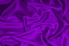 Tessuto di seta viola 1/del raso Fotografie Stock