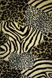 Tessuto di struttura delle stampe della tigre Fotografia Stock