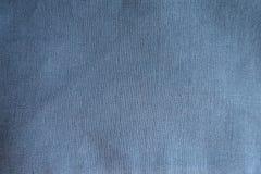 Tessuto di tela blu sottomesso da sopra fotografia stock libera da diritti