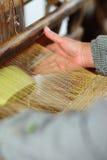 Tessuto di tessile della mano fotografie stock