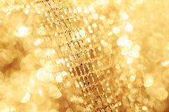 Tessuto dorato Fotografia Stock Libera da Diritti