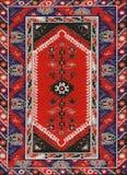 Tessuto etnico geometrico tradizionale del tappeto dell'oggetto d'antiquariato di Oriente immagine stock