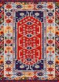 Tessuto etnico geometrico tradizionale del tappeto dell'oggetto d'antiquariato di Oriente fotografia stock libera da diritti