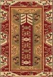 Tessuto etnico geometrico tradizionale del tappeto dell'oggetto d'antiquariato di Oriente immagine stock libera da diritti