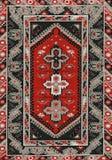 Tessuto etnico geometrico tradizionale del tappeto dell'oggetto d'antiquariato di Oriente fotografia stock