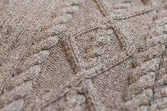 Tessuto fatto di lana Fotografie Stock