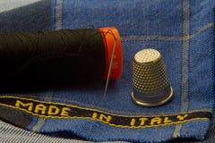Tessuto fatto in Italia Immagine Stock
