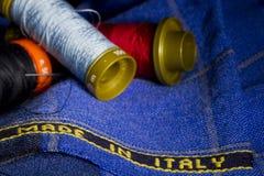 Tessuto fatto in Italia Fotografia Stock