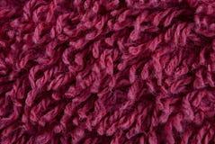 Tessuto Fleecy di colore rosso immagini stock
