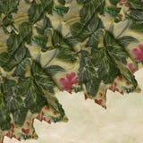 Tessuto floreale strutturato Fotografie Stock Libere da Diritti