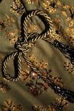 Tessuto floreale verde Fotografia Stock Libera da Diritti
