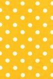 Tessuto giallo del pois Immagine Stock Libera da Diritti
