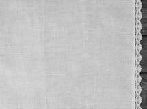 tessuto grigio chiaro dalla tela da imballaggio grezza del lino Fotografia Stock