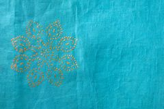 Tessuto indiano con il disegno floreale Immagini Stock